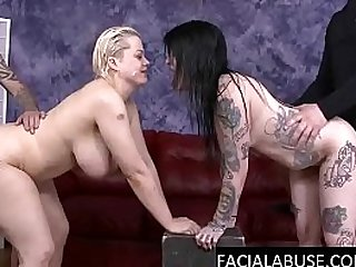 Two horny whores get nasty ass fucked