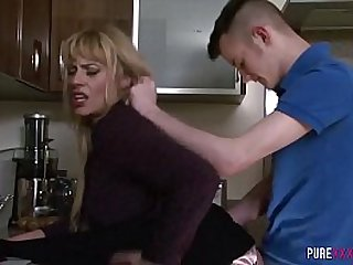 Horny milf loves sex with young men