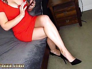 Slutty Housewife seduces her husbands best friend and fucks him