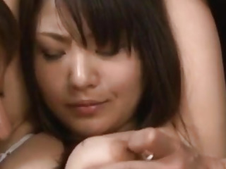 Kanna Harumi with cum on mouth is nailed in hairy cunt like crazy