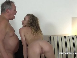 Grandpa Gives Horny Teen a Piece of His Old Cock
