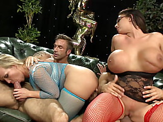 Only3x Network presenting - fresh hardcore scene with pornstar Emma Butt  - Titty Fuck, Group Sex, Blonde, Facial Cumshot, Big Boobs, Nylons/Pantyhose, Brunette, Cum Sharing, Glasses, Pornstar, Heels, 4K Ultra HD