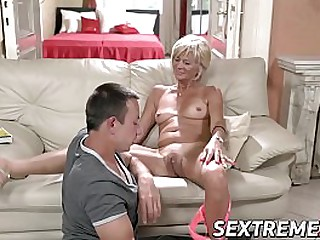 Blonde granny needs a young hard cock