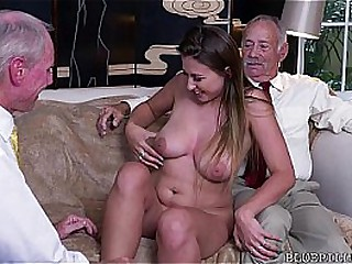 Fucking old man young lady